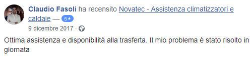 Recensione manutenzione caldaie Pescara - Claudio Fasoli